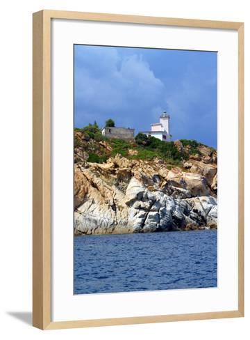 Italia,Sardegna,Capo Ferrato,Il Faro.- gimsan-Framed Art Print