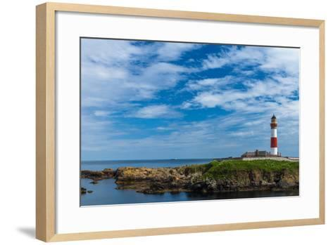 Buchan Ness Lighthouse at Boddam- panalot-Framed Art Print