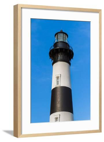 Bodie Island Lighthouse Top-Kenneth Keifer-Framed Art Print