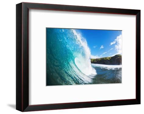 Blue Ocean Wave-EpicStockMedia-Framed Art Print