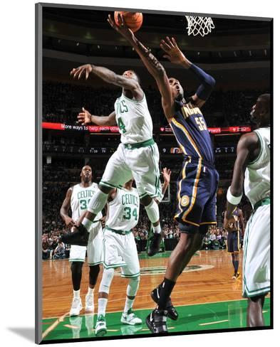 Indiana Pacers v Boston Celtics: Roy Hibbert and Nate Robinson-Brian Babineau-Mounted Photo