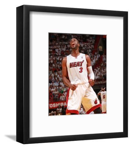 Philadelphia 76ers v Miami Heat - Game Five,  MIAMI - APRIL 27: Dwyane Wade-Victor Baldizon-Framed Art Print