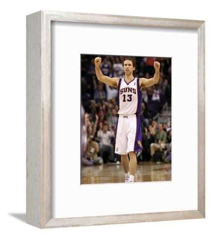 Indiana Pacers v Phoenix Suns: Steve Nash-Christian Petersen-Framed Art Print