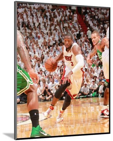 Boston Celtics v Miami Heat - Game Five, Miami, FL - MAY 11: Dwyane Wade and Delonte West-Victor Baldizon-Mounted Photo