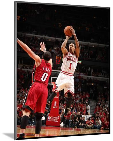 Miami Heat v Chicago Bulls - Game Five, Chicago, IL - MAY 26: Derrick Rose and Mike Bibby-Nathaniel S. Butler-Mounted Photo