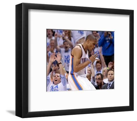 Oklahoma City, OK - June 2: Russell Westbrook-Brett Deering-Framed Art Print