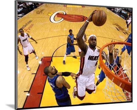 Dallas Mavericks v Miami Heat - Game One, Miami, FL - MAY 31: LeBron James and Tyson Chandler-Mike Ehrmann-Mounted Photo