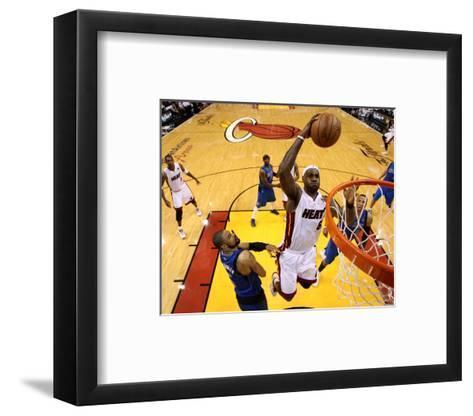 Dallas Mavericks v Miami Heat - Game One, Miami, FL - MAY 31: LeBron James and Tyson Chandler-Mike Ehrmann-Framed Art Print
