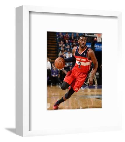 Mar 18, 2014, Washington Wizards vs Sacramento Kings - John Wall-Garrett Ellwood-Framed Art Print