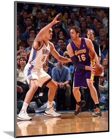 Mar 13, 2014, Los Angeles Lakers vs Oklahoma City Thunder - Pau Gasol-Layne Murdoch-Mounted Photo