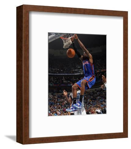 New York Knicks v New Orleans Hornets: Amar'e Stoudemire-Layne Murdoch-Framed Art Print