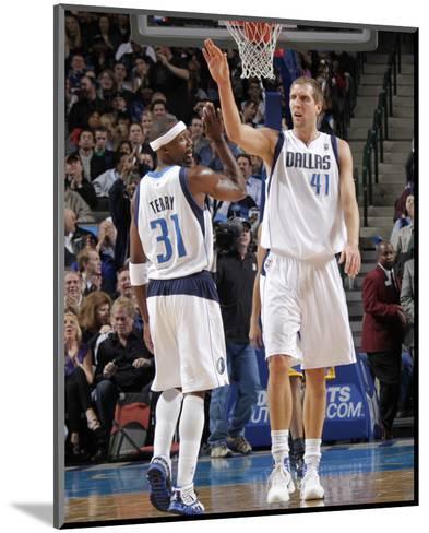 Golden State Warriors v Dallas Mavericks: Dirk Nowitzki and Jason Terry-Glenn James-Mounted Photo