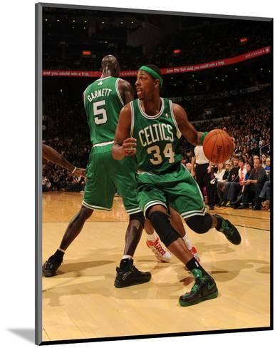 Boston Celtics v Toronto Raptors: Paul Pierce and Kevin Garnett-Ron Turenne-Mounted Photo