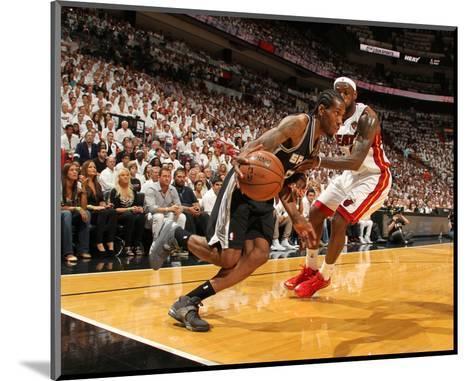 Miami, FL - June 20: Kawhi Leonard and LeBron James-Issac Baldizon-Mounted Photo