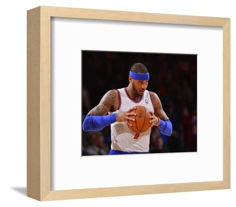 Jan 24, 2014, Charlotte Bobcats vs New York Knicks - Carmelo Anthony-David Dow-Framed Art Print