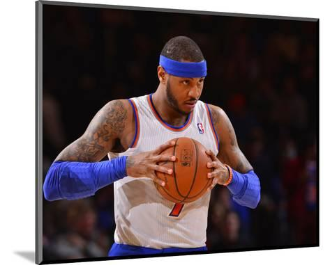 Jan 24, 2014, Charlotte Bobcats vs New York Knicks - Carmelo Anthony-David Dow-Mounted Photo