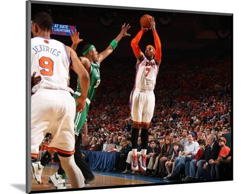 Boston Celtics v New York Knicks - Game Four, New York, NY - April 24: Carmelo Anthony and Paul Pie--Mounted Photo