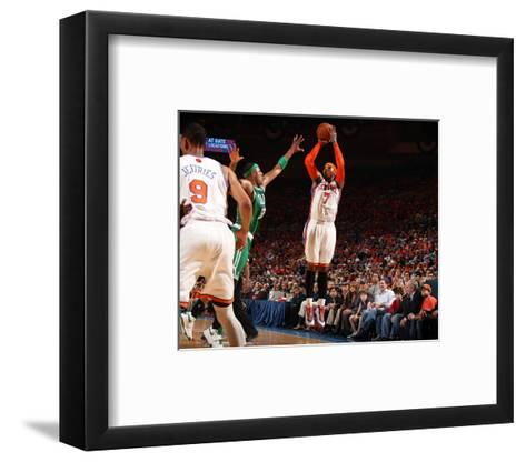 Boston Celtics v New York Knicks - Game Four, New York, NY - April 24: Carmelo Anthony and Paul Pie--Framed Art Print