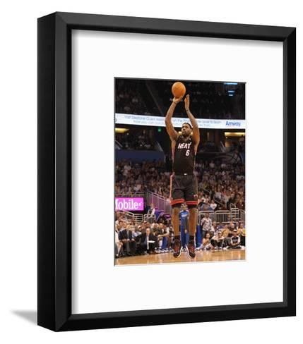 Miami Heat v Orlando Magic: LeBron James-Mike Ehrmann-Framed Art Print