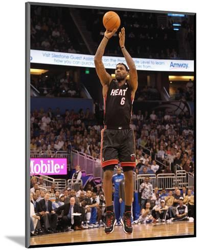 Miami Heat v Orlando Magic: LeBron James-Mike Ehrmann-Mounted Photo