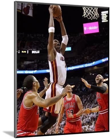 Chicago Bulls v Miami Heat - Game Three, Miami, FL - MAY 22: Chris Bosh-Mike Ehrmann-Mounted Photo