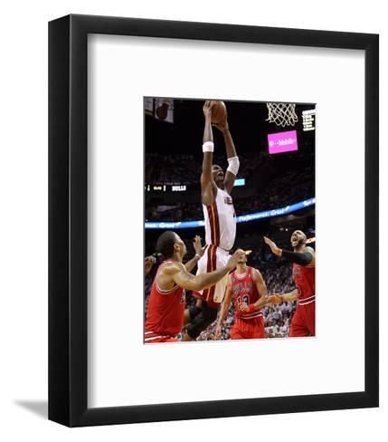Chicago Bulls v Miami Heat - Game Three, Miami, FL - MAY 22: Chris Bosh-Mike Ehrmann-Framed Art Print