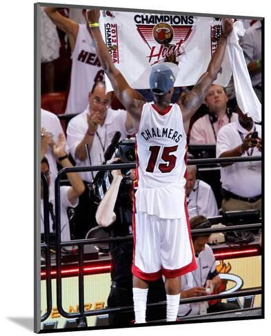 Miami, FL - June 21:  Miami Heat and Oklahoma City Thunder Game Five, Mario Chalmers-Mike Ehrmann-Mounted Photo