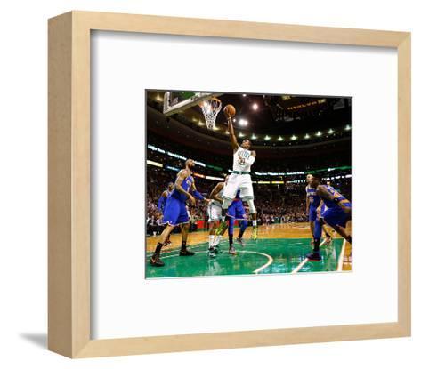 Boston, MA - January 24: Rajon Rondo and Tyson Chandler-Jared Wickerman-Framed Art Print
