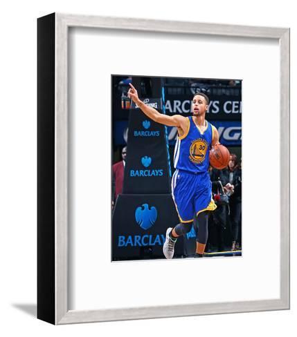 Golden State Warriors v Brooklyn Nets-Nathaniel S Butler-Framed Art Print