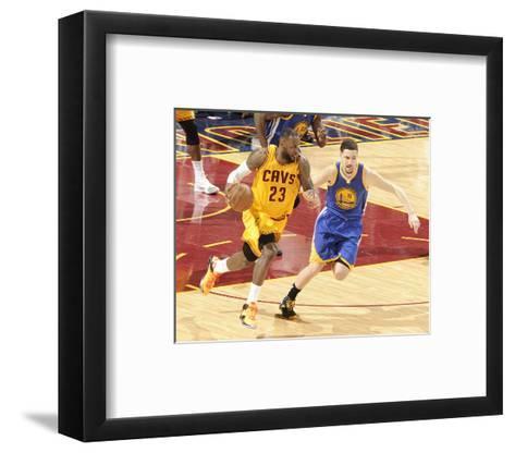 2015 NBA Finals - Game Three-David Kyle-Framed Art Print