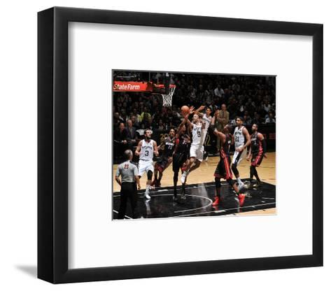 2014 NBA Finals Game Two: Jun 8, Miami Heat vs San Antonio Spurs - Tony Parker-Garrett Ellwood-Framed Art Print
