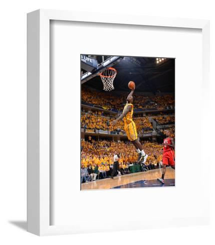 2014 NBA Playoffs Game 7: May 3, Atlanta Hawks vs Indiana Pacers - Lance Stephenson-Jesse D. Garrabrant-Framed Art Print