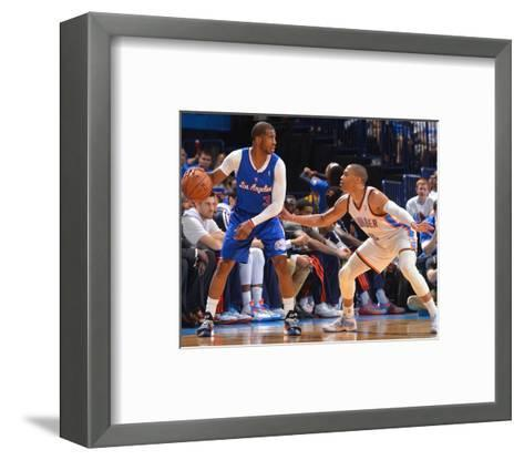 2014 NBA Playoffs Game 2: May 7, Los Angeles Clippers vs Oklahoma City Thunder - Chris Paul-Jesse D. Garrabrant-Framed Art Print