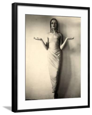 Portrait of Jia Ruskaja, Prima Ballerina of the Teatro Della Scala in Milan--Framed Art Print