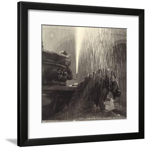 Horse, Detail of the Neptune Fountain, Piazza Della Signoria, Florence-Vincenzo Balocchi-Framed Art Print