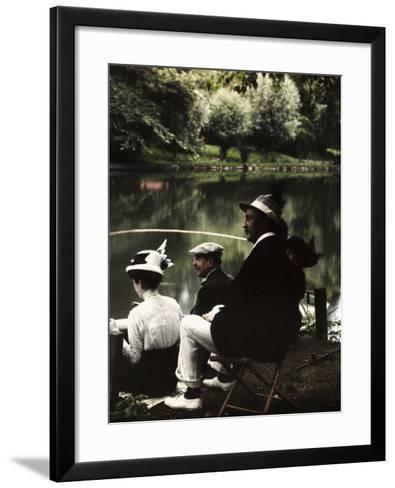 Group of Friends Fishing at Montigny-Henrie Chouanard-Framed Art Print