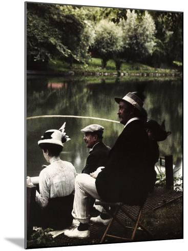 Group of Friends Fishing at Montigny-Henrie Chouanard-Mounted Photographic Print