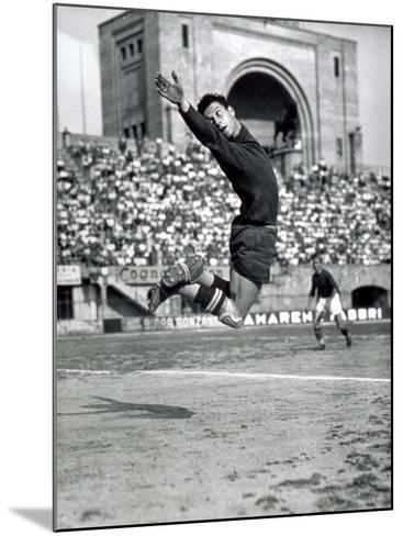 Goalkeeper During a Game-A^ Villani-Mounted Photographic Print