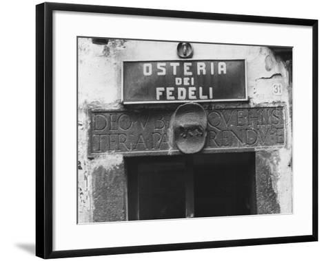 Sign for a Osteria-Vincenzo Balocchi-Framed Art Print