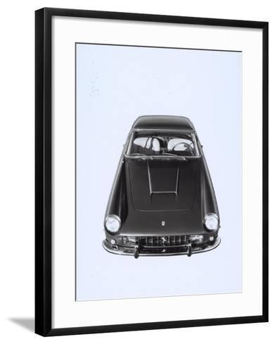 Frontal and Top View of a Ferrari Automobile-A^ Villani-Framed Art Print