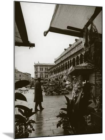 Stands and a Bookstall Keeper in Front of the Palazzo Della Ragione, in Padua-A^ Villani-Mounted Photographic Print