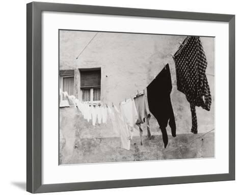 Laundry Hanging Out to Dry-Vincenzo Balocchi-Framed Art Print