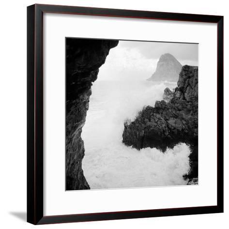 Sicily: Sea Storm in Cape Zafferano--Framed Art Print