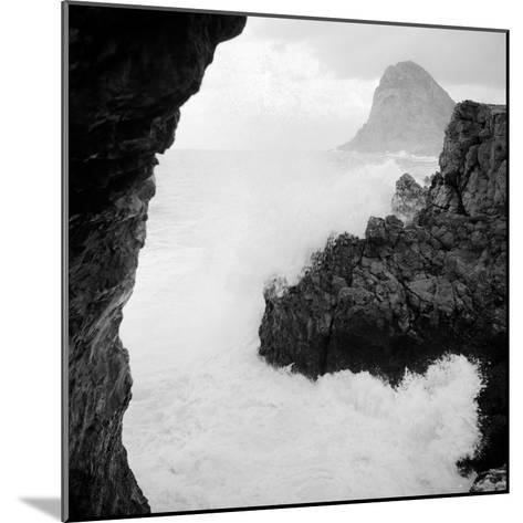 Sicily: Sea Storm in Cape Zafferano--Mounted Photographic Print