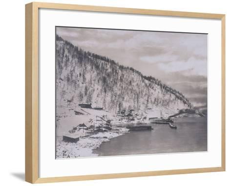Construction of the Transiberian Railway Around Lake Baikal--Framed Art Print