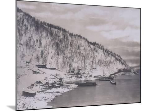 Construction of the Transiberian Railway Around Lake Baikal--Mounted Photographic Print