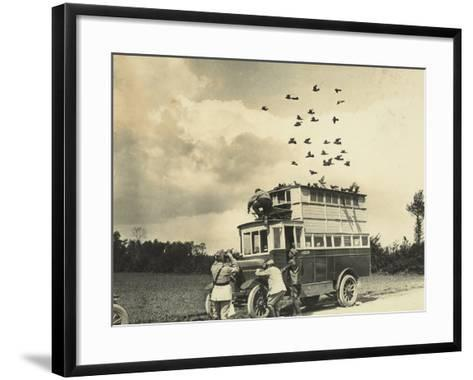 WWI: Soldiers Setting Free Some Carrier Pigeons, Northern France--Framed Art Print