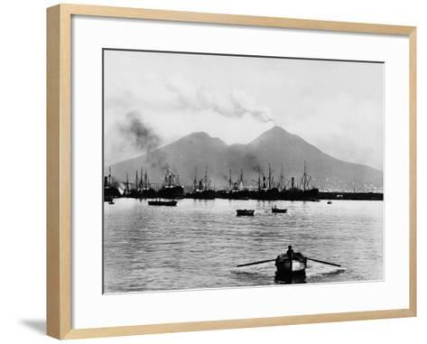 Mount Vesuvius Seen from the Quay of Naples--Framed Art Print