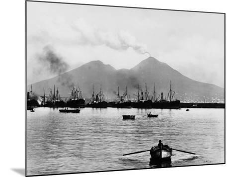 Mount Vesuvius Seen from the Quay of Naples--Mounted Photographic Print