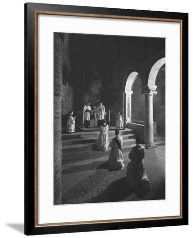 Religious Ceremony-Luciano Ferri-Framed Art Print